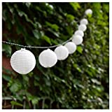 Aobiny Lamp string, Solar Lantern Party Garden Lighting 6.0 Meters (White)