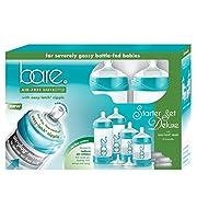 Baby Bottle - Bare Air-Free Feeding System, Easy Latch Nipple For Bottle-Fed Babies - Starter Set