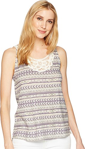 (Woolrich Women's Bell Canyon Eco Rich Printed Tank, Violet Indigo Multi, Medium )