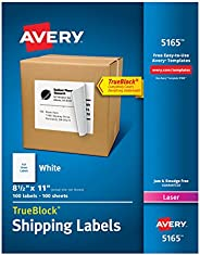 Avery Shipping Address Labels, Laser Printers, 100 Labels, Full Sheet Labels, Permanent Adhesive, TrueBlock (5