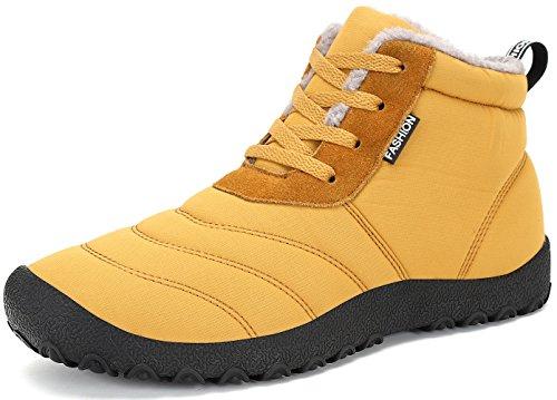 Stringate All'aperto Stivali Boots Piatto Antiscivolo Scarpe Donna SAGUARO Caldo Giallo Stivaletti Caviglia Neve Pelliccia Uomo Invernali wq64fg