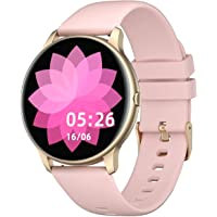 YAMAY Smart Watch Compatible iPhone and Android Phones IP68 Waterproof, Watches for Men Women Round Smartwatch Fitness…