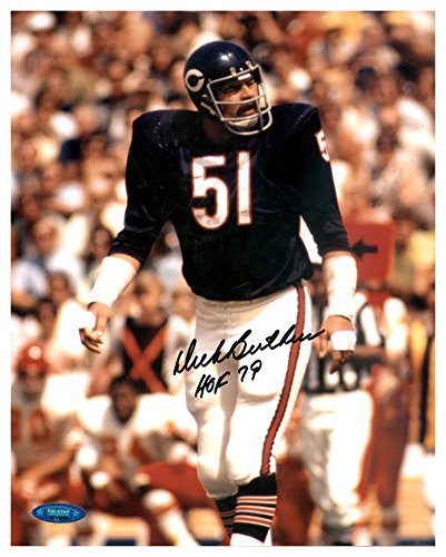 Dick Butkus Autographed Signed 8x10 Photo Chicago Bears HOF 79 TriStar Holo Stock #128932 - Certified Authentic Dick Butkus Signed Photo