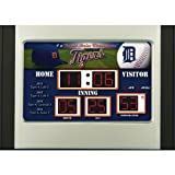 MLB Detroit Tigers Scoreboard Desk Clock