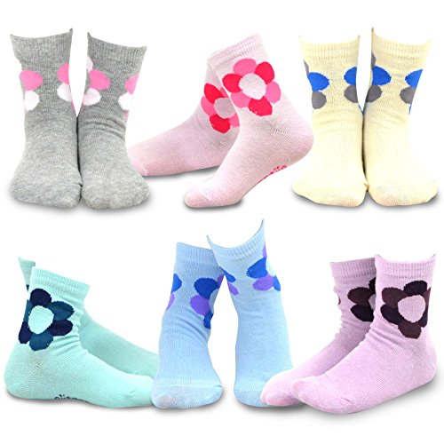 Naartjie Kids Girls Cotton Crew Flower Icon Socks 6, used for sale  Delivered anywhere in USA
