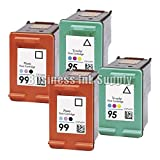 hp 99 - DS 4 PK REMANUFACTURED HP 95 HP 99 ink cartridge HP 95 99 2 Photo 2 TriColor
