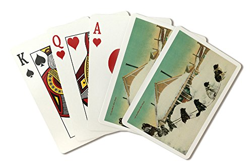 Sled Dog Team (Alaska Dogsled Team resting in Snow (Playing Card Deck - 52 Card Poker Size with Jokers))