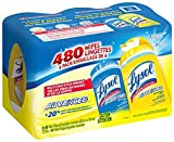 Lysol Disinfecting Wipes, 1Pallet of 75 Cases of 480 Wipes 6 Packs of 80 Wipes, (Lemon & Spring Waterfall)