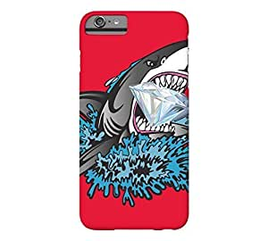 Shark Diamond Mouth iPhone 6 Plus Cadmium red Barely There Phone Case