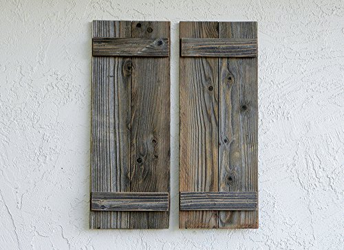 Rustic Reclaimed Wood Shutters (Set of 2). 30x11in by ABELO Design (Image #6)