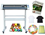 Techtongda 34'' Cutter Plotter T-shirt 4colors Vinyl Cutting Mat Heat Press Transfer Vector Collections Bundle