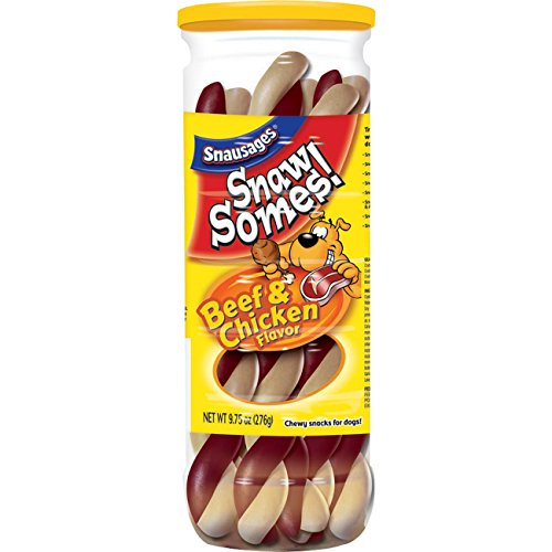 SnawSomes! Beef & Chicken Snacks for Dogs, 9.75-Ounce Canisters (Pack of 5)