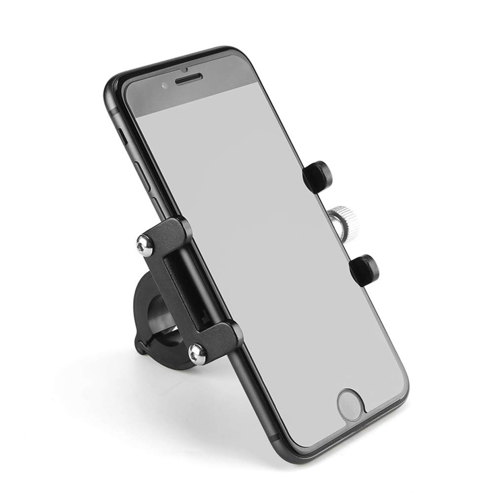 Soporte para tel/éfono m/óvil de Bicicleta Bicicleta Ajustable Motocicleta de aleaci/ón de Aluminio Smartphone Tenedor del tel/éfono de la Bicicleta Mount para Tel/éfono m/óvil de 3.5-7 Pulgadas