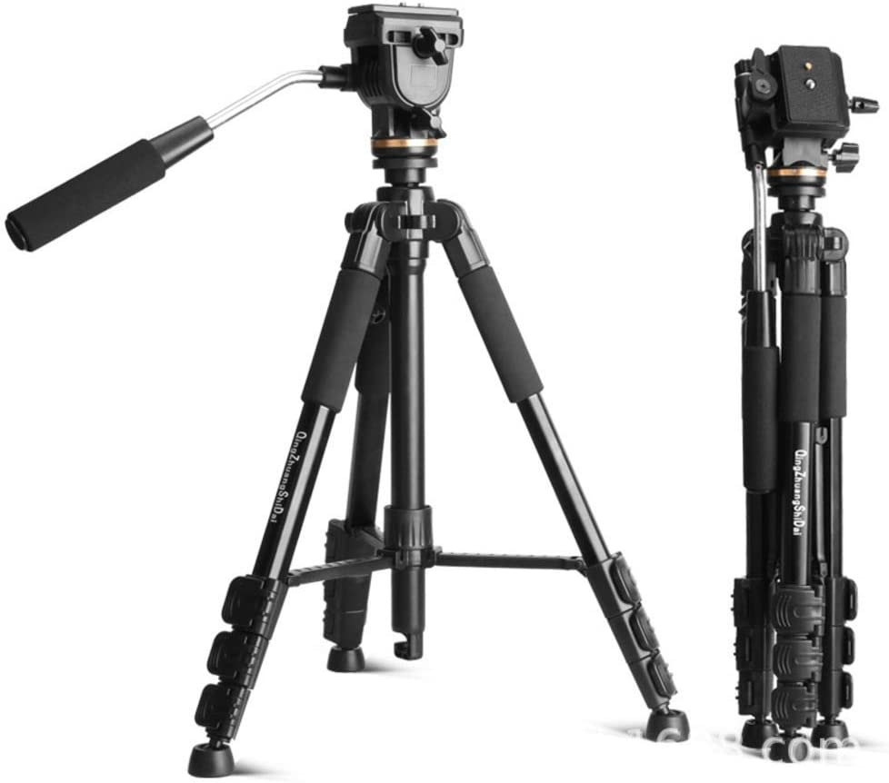 XIXI Cameras Tripod,Lightweight Travel Tripods Quick Release Plates 1 4in Mounting Compatible Video Camera DSLR SLR Load 5kg with Carry Bag 11 Lbs