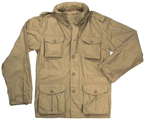 Khaki Vintage Lightweight Military M-65 Field Jacket