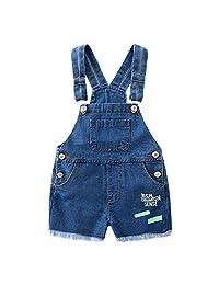 Evelin LEE Baby Boys Cute Denim Bib Shorts Overalls Jeans Shortalls