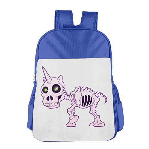 Children's School Bags Unicorn Devil Skull Skeleton Anti-pressure Backpacks Book Bag -