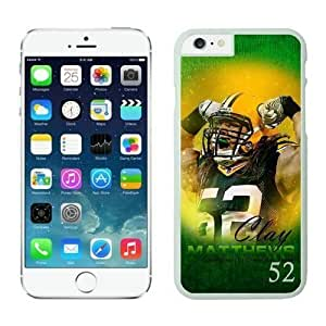 NFL Case Cover For Apple Iphone 6 4.7 Inch Green Bay Packers Clay Matthews White Case Cover For Apple Iphone 6 4.7 Inch Cell Phone Case ONXTWKHB1643