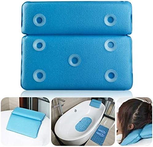 背もたれサクションカップとSPAヘッドレストバスタブ枕、ソフトネッククッション通気性防水、理想の大人や子供たちのために (Color : White)
