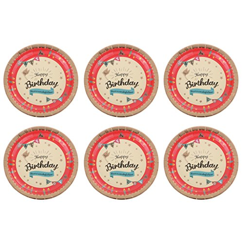 MonkeyJack 6 Pieces Sturdy And Durable Party Food Paper Plates For Birthday Party by MonkeyJack (Image #10)
