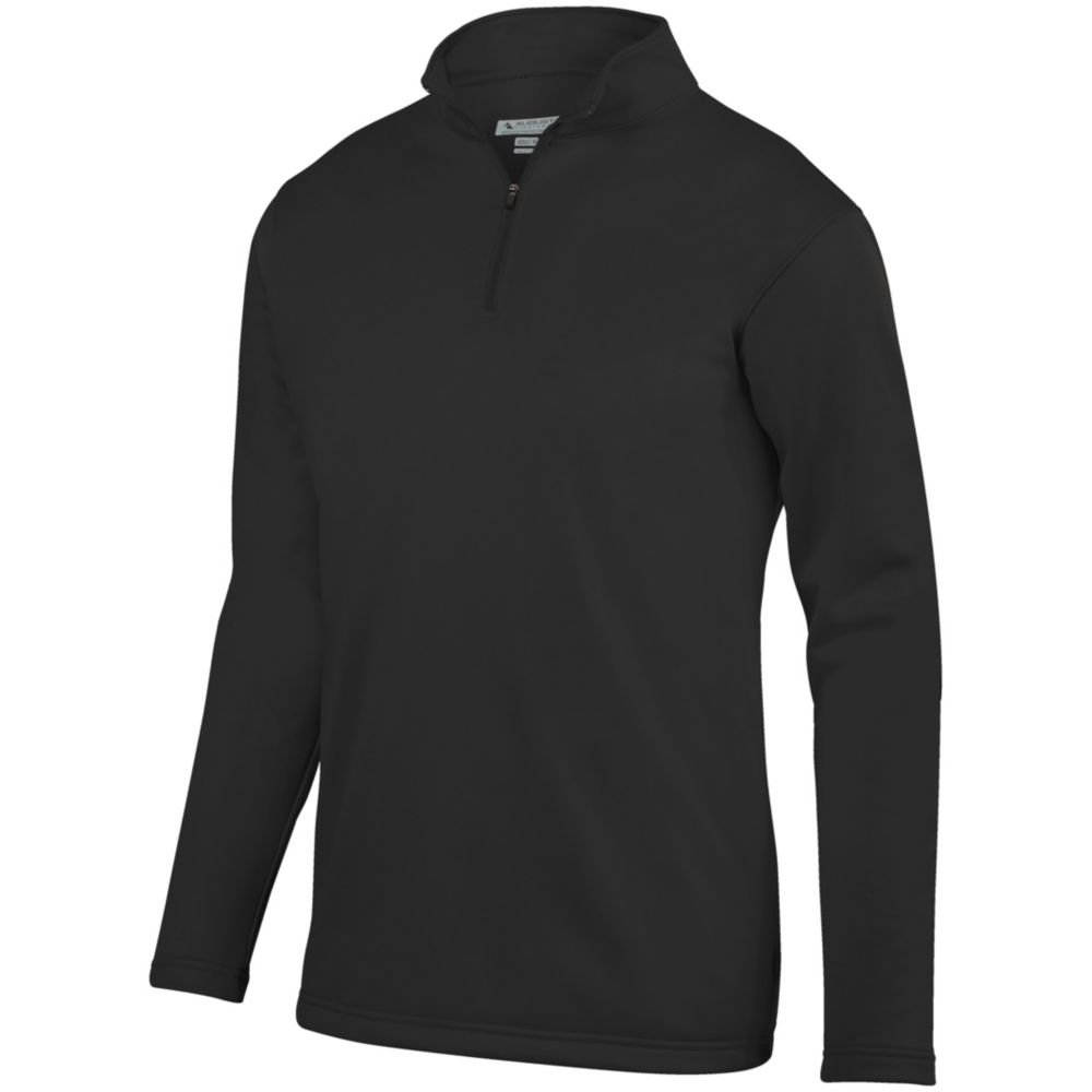 Small Augusta Sports Youth Wicking Fleece Pullover Black