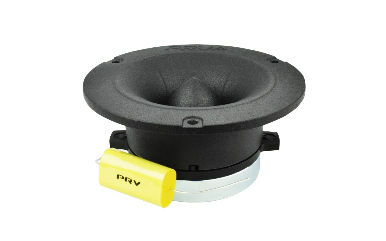 PRV Audio TW500My-Nd Mylar Neodymium 4'' Bullet Super Tweeter 8 ohms 1.25'' VC Pro Audio High Frequency Driver 108dB 75 Watts RMS