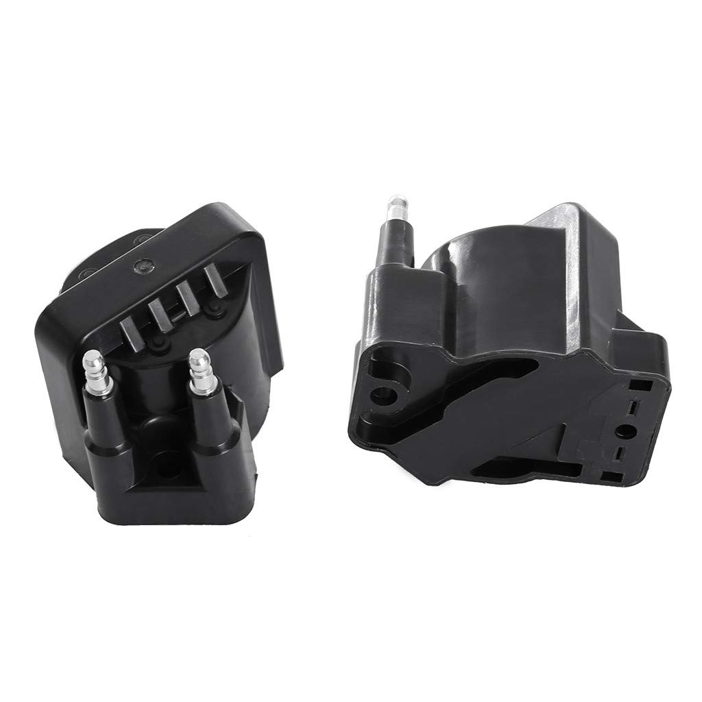 Car Accessories High Quality Ignition Spark Coil Set of 2 Kit for Chevy GMC Buick Pontiac L4 2.0 2.2 2.5 (Black)