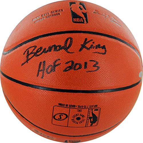 King Bernard Basketball Autographed - Bernard King Signed I/O Basketball w/HOF insc - Steiner Sports Certified - Autographed Basketballs