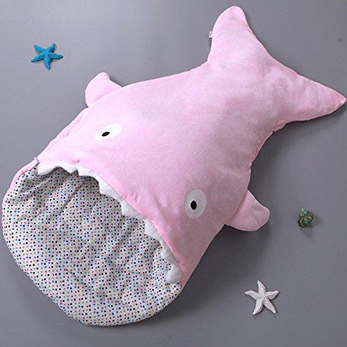 Graces Dawn Shark Baby SleepingバッグBunting Bag Slumberバッグ新生児Sacks Swaddlingブランケット(ブルー) B01MXHHEHD  コットン