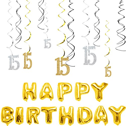 15th birthday party supplies - 7