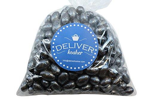 Deliver Kosher Bulk Candy - Silver Chocolate Almonds - 1lb Bag (Silver Shell Sugar)