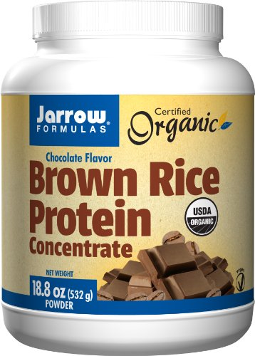 Jarrow Formulas Brown Rice Protein, Sports Nutrition, Chocolate Flavor, 18.8 OZ