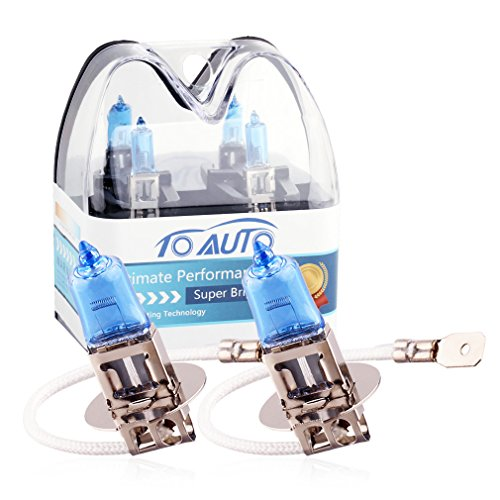 TOAUTO 2 X H3 24V 100W Car Headlight Lamp Halogen Light Super Bright Fog Xenon Bulb White ()