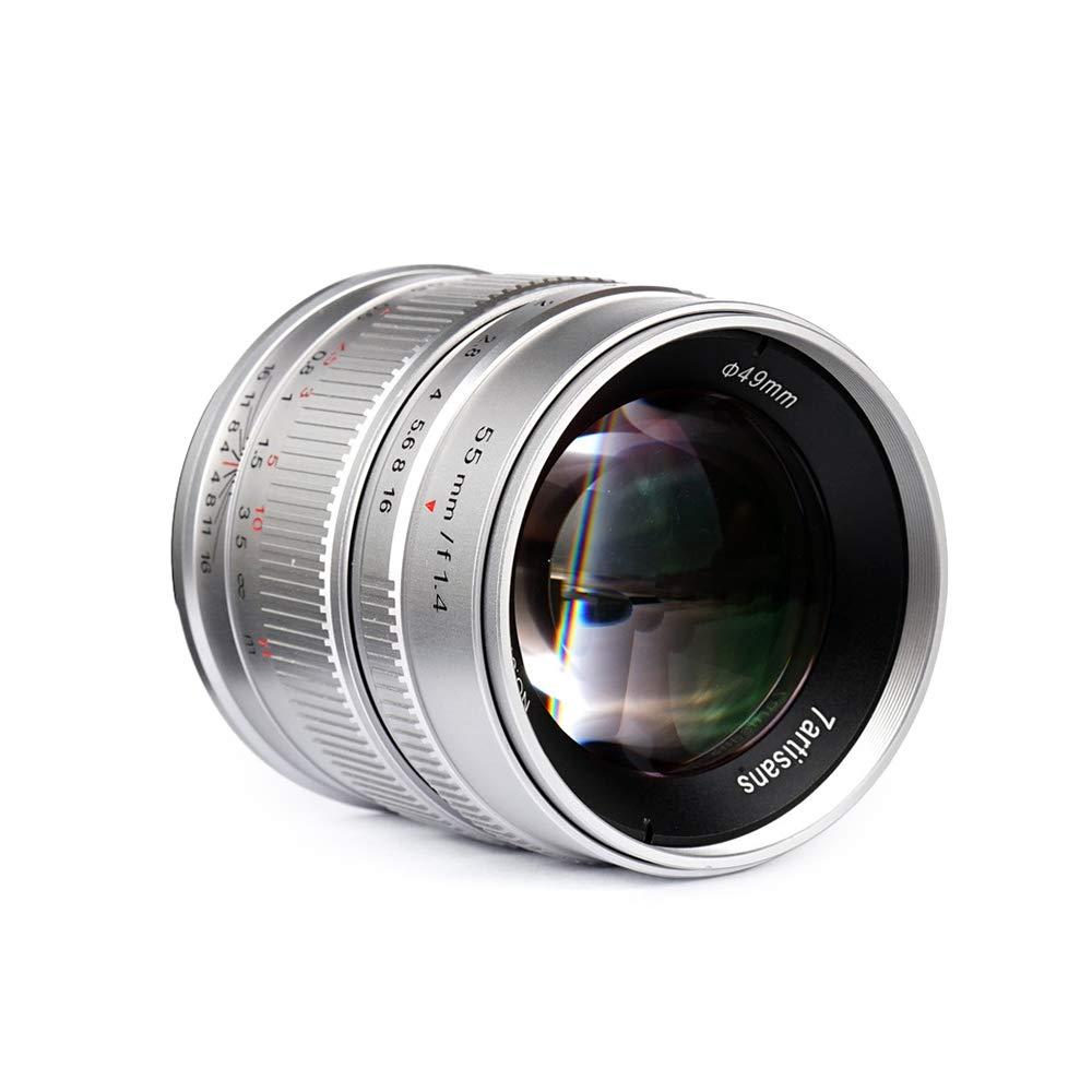 7artisans 55mm f/1.4 APS-C 大口径プライムレンズ マニュアルフォーカス 富士フイルム X-A1/X-A10/X-A2/X-A3/X-M1/X-M2/X-T1/X-T10/X-T2/X-T20/X-Pro1/X-Pro2/X-E1/X-E2/X-E2s/EX-E3 FX-マウント ミラーレスカメラ用   B07PPGW81Y