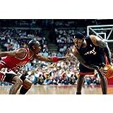 LeBron James 21x14 NBA MVP vs Michael Jordan ArtPrint Poster 065C