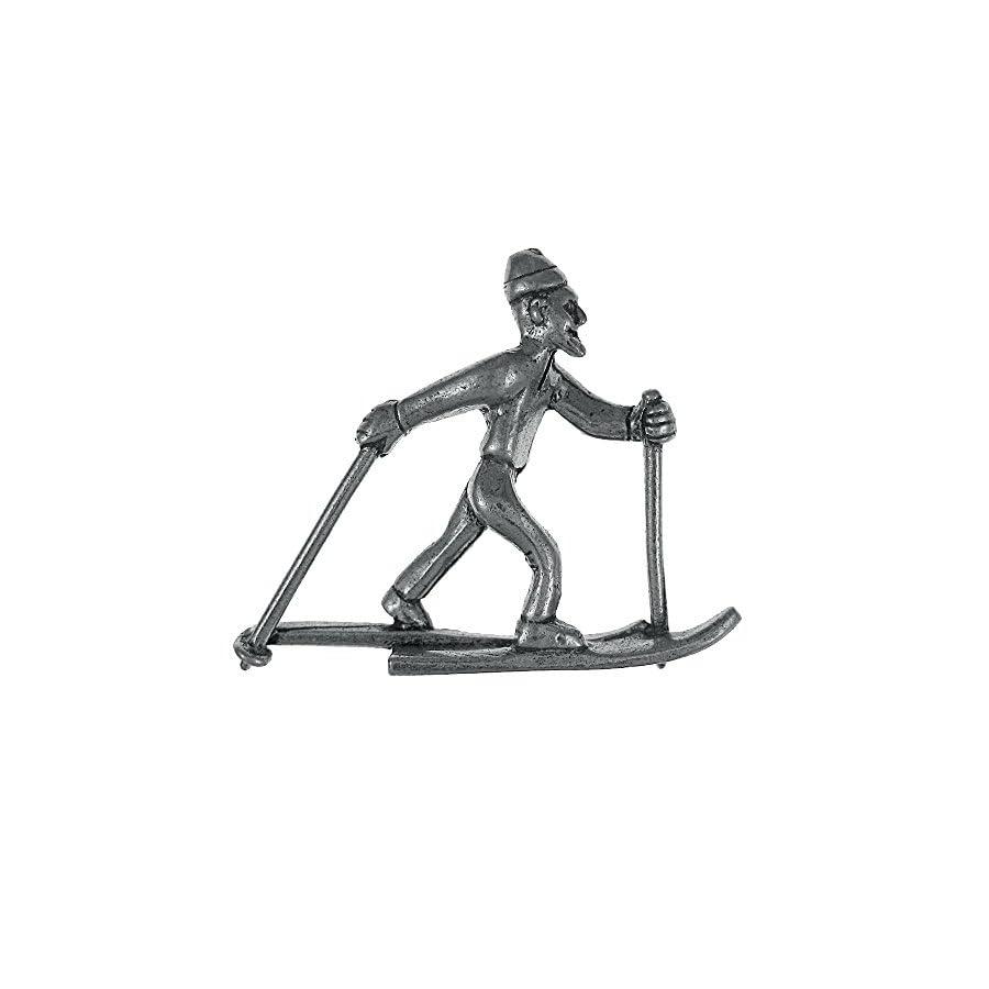 Jim Clift Design Cross Country Skier Lapel Pin