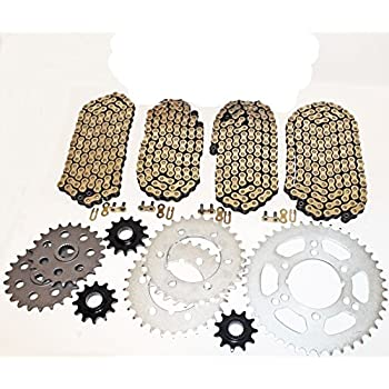 Gold 1994 Polaris Big Boss 300 6x6 O-Ring Chain 520x64