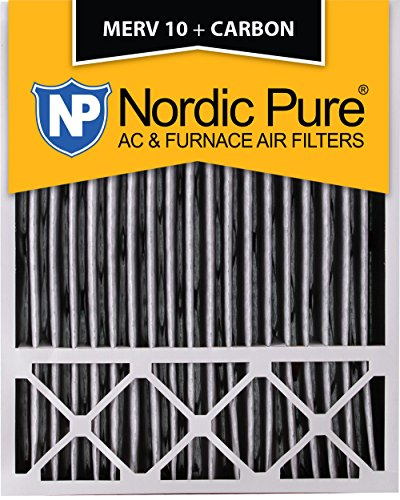 Nordic Pure 20x25x5LXREDPM10C-2 Lennox X6673_X6675 Replacement MERV 10 Pleated Plus Carbon Filter (2 Pack)