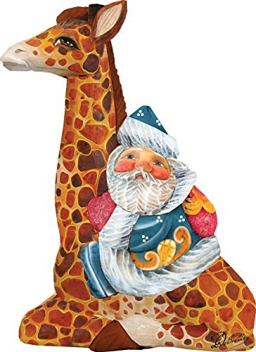 G. Debrekht Santa on Giraffe Figurine Ornament Debrekht Santa
