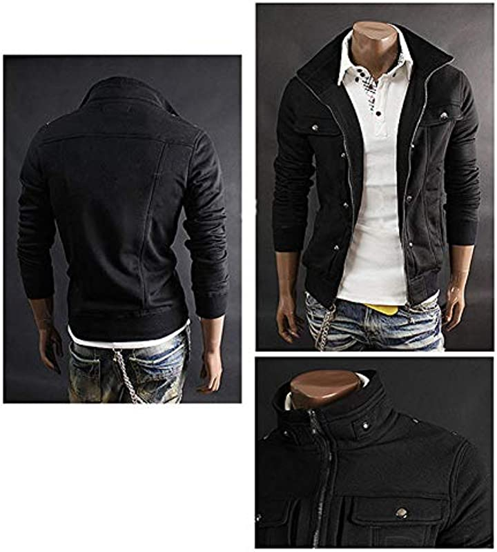 Outdoor Casual Męskie Jacke Fashion Zipper Cardigan Jacke Langarm-Sweatshirt Outwear D-L: Baumarkt