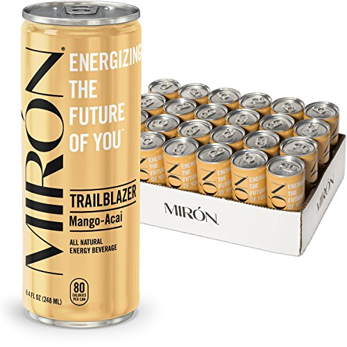 Miron Energy, Mango Acai, All Natural, Made with Caffeine from Green Coffee beans + Cane Sugar 8.4 Fl.Oz. Cans (Pack of 24)