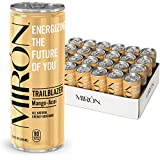 Mirón Mango Acai All Natural Sparkling Energy Beverage 8.4 Fl.Oz. Cans (Pack of 24)