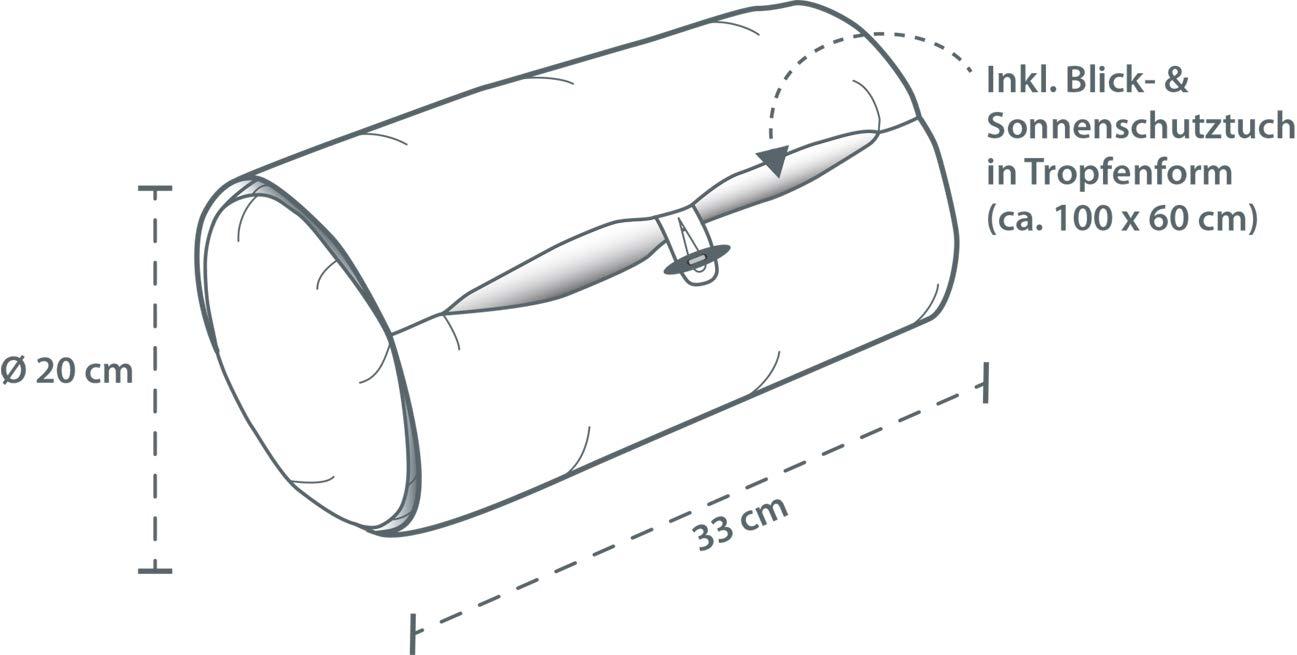 Theraline Stillrolle PLUS inkl 33 x 20 cm Blick- und Sonnenschutz//Stillkissen mini ger/äuschfrei//kleines Babystillkissen waschbar//Stillmuff Ma/ße ca Design:Kolibris blau