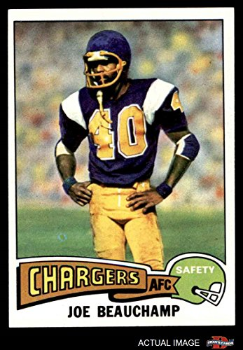1975 Topps # 124 Joe Beauchamp San Diego Chargers (Football Card) Dean's Cards 6 - EX/MT Chargers