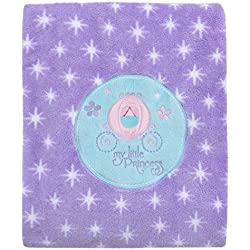 Disney Baby Super Soft Blanket My Little Princess, Purple, Aqua, White