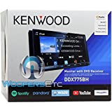 Kenwood DDX775BH In-Dash 2-DIN 6.95 Touchscreen DVD Receiver with Spotify, Waze, YouTube and Pandora via Weblink