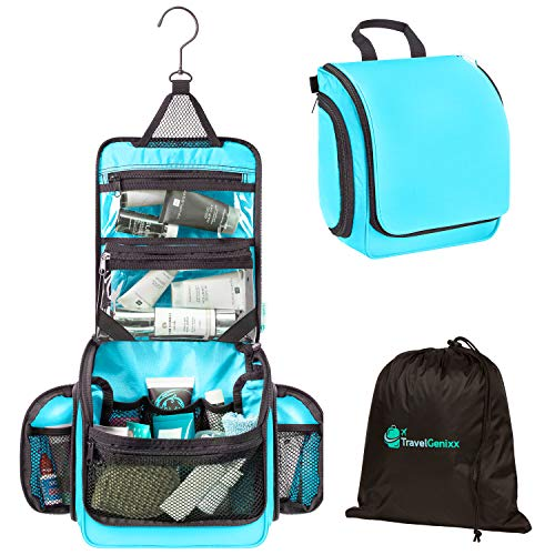 Travel Toiletry Bag and Hanging Organizer with Removable TSA-compliant...