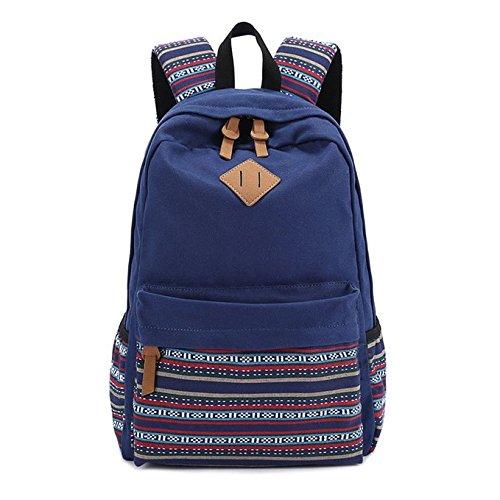 14 opinioni per Evay zaino tela Vintage striscia colorata sacchetto di scuola per i giovani