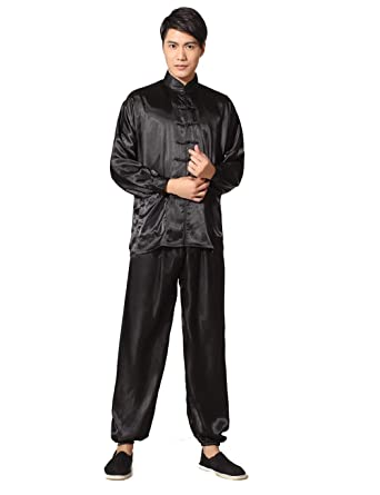 Uojack Men Chinese Style Pajamas Set Casual Long-Sleeved Shirt Long Pants  Set Pyjama Sets fa3fd6618