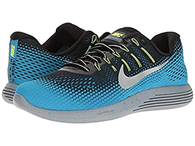 343a86e96ab79 ... get nike lunarglide 8 shield black metallic silver blue glow stealth mens  running shoes e4629 3bf78